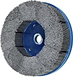 PFERD 84146 M-Brad High Density Composite Disc Brush, Silicon Carbide Grain, 8'' Diameter, 0.040 Round Filament, 1800 rpm, 80 Grit