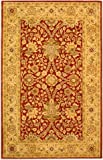 Safavieh Antiquities Collection AT249C Handmade Traditional Oriental Rust and Gold Wool Area Rug (3' x 5')