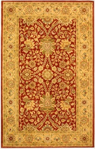 Safavieh Antiquities Collection AT249C Handmade Traditional Oriental Rust and Gold Wool Area Rug (3' x 5') by Safavieh