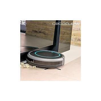 Robot Aspirador con Mopa y Depósito de Líquidos Cecoclean Wet 5048 0,3 L 11,1 V Gris Negro: Amazon.es: Hogar