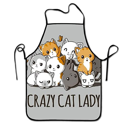 Eastlif Crazy Cat Lady White Orange Gatos Lindos Delantales de ...