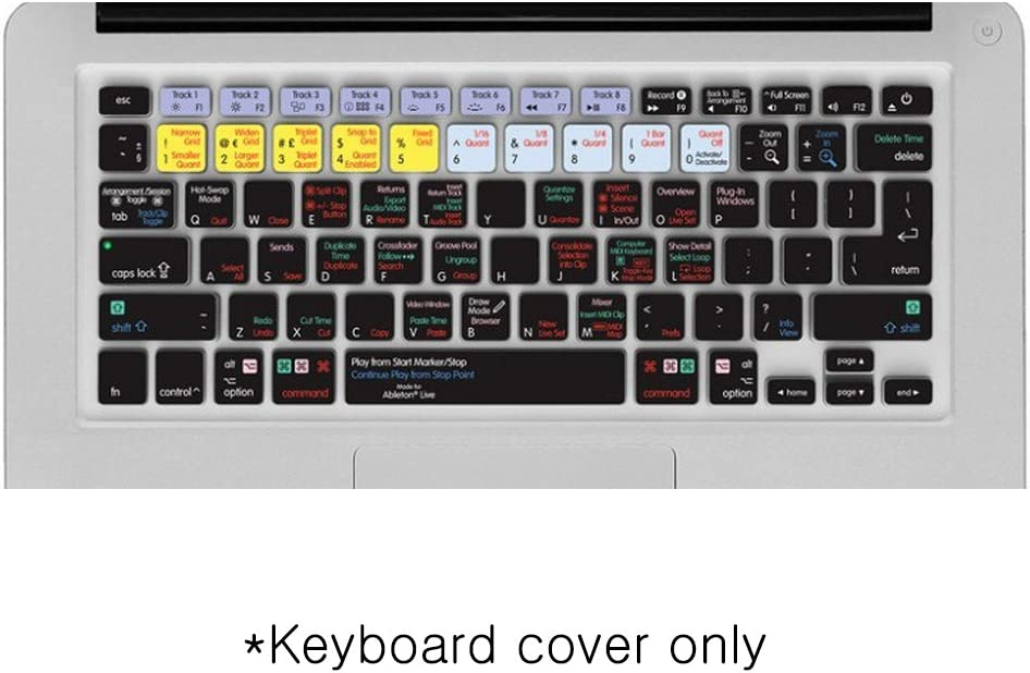 Shortcut Printed Cover for MacBook MacBook Air Pro Editors Keys Ableton Live Keyboard Cover