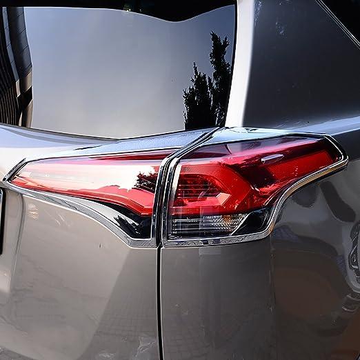 KUST wdk71264 W 4 pcs cromo lámpara de cola luz trasera luz bisel para Trim, 4 pcs para lámpara de luz trasera para llantas para Toyota RAV4 2016 2017: ...