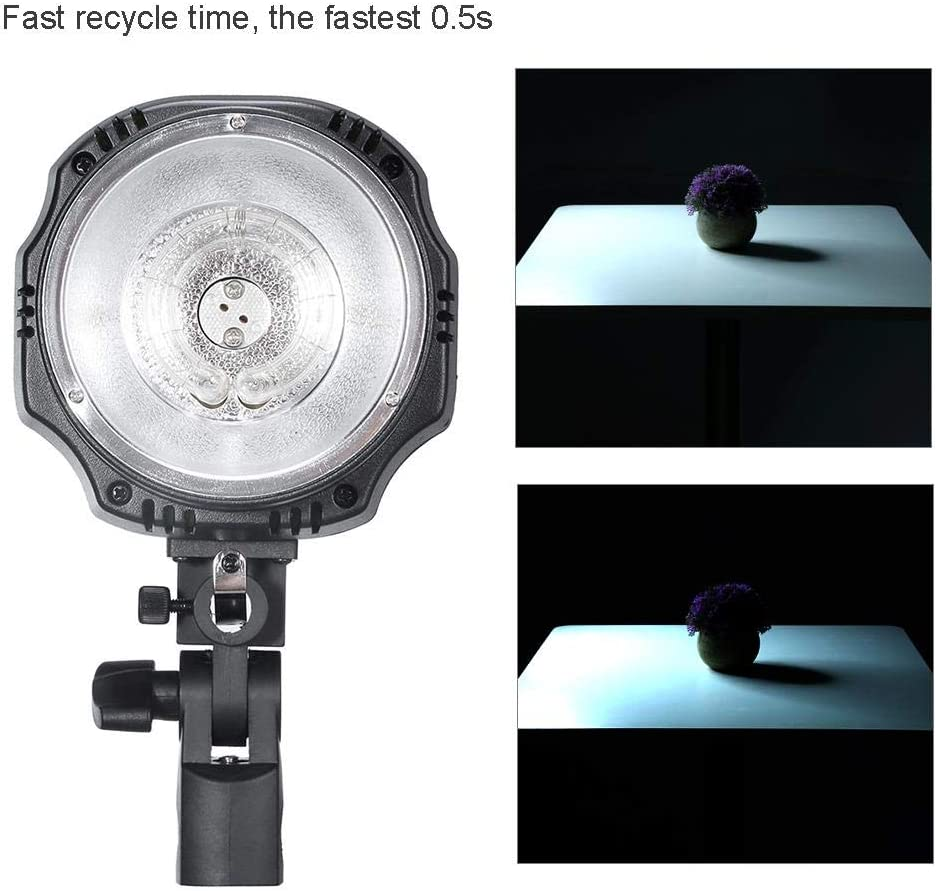 Flash Times Bowens Mount Monolight Support Synchronous Sables Remote Control a Variety of Trigger Mode. Test Button us.Plug Mugast 180W Photo Studio Photography 100,000 Sensors