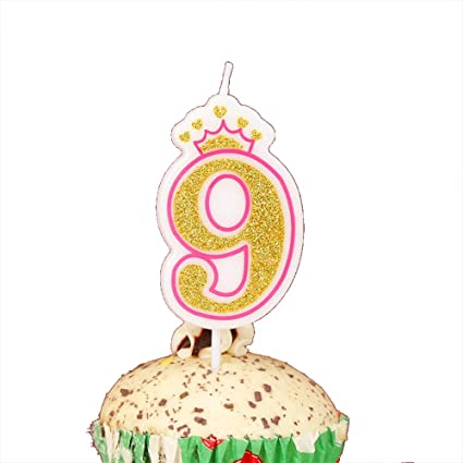 LOVELY BITON Gold 9quot Happy Birthday Candles 0 9 Molded Number For