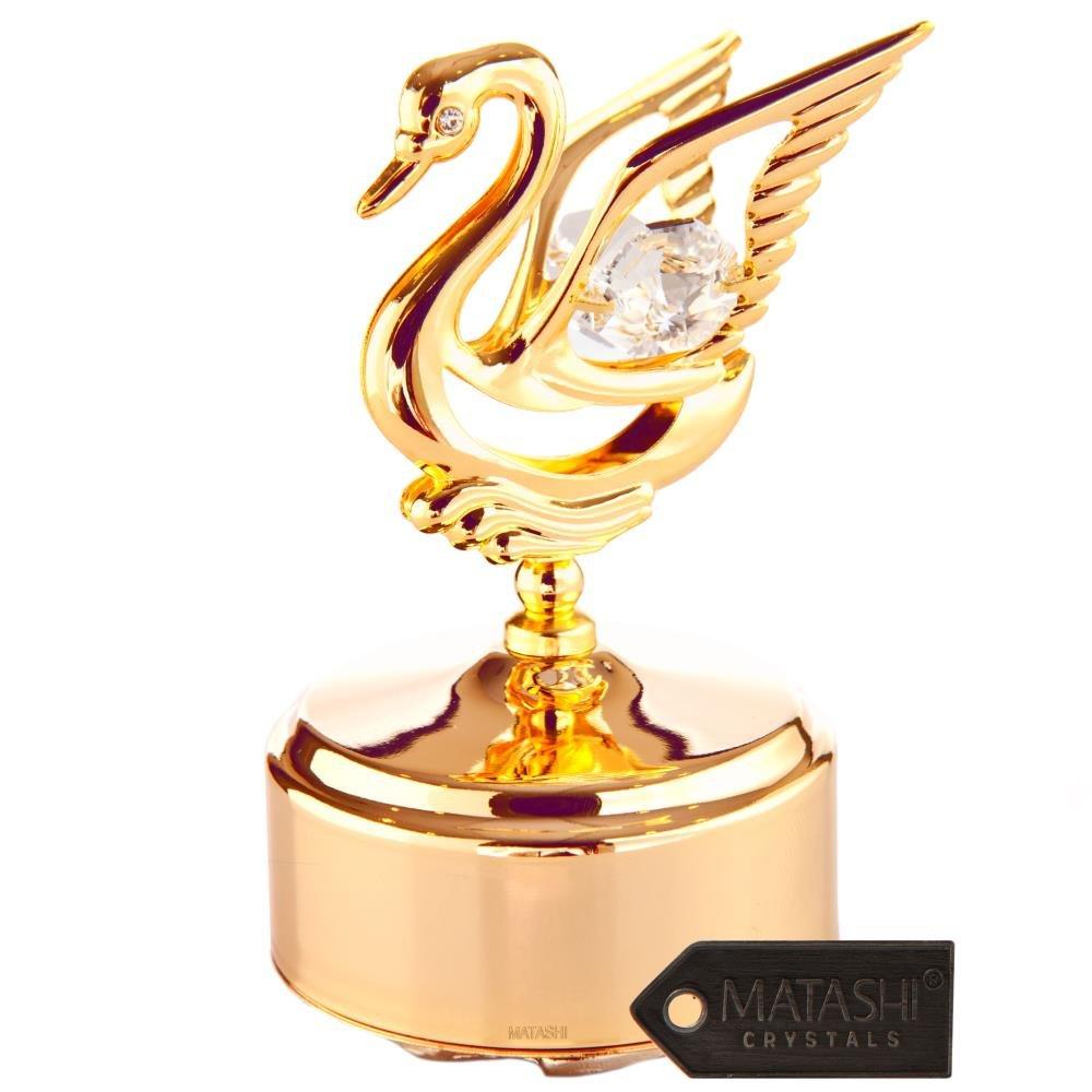 大特価 24 Swan Kゴールドメッキ音楽ボックスwith Crystal Studded Figurine by Matashi Studded Dragonfly Swan ゴールド MCTMGS3062 B00X770A5S Swan Swan, 新郷村:4079c27c --- arcego.dominiotemporario.com