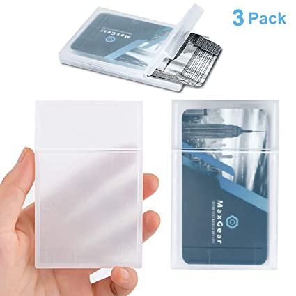 sports shoes a50a5 f6b2d MaxGear Professional Plastic Business Card Holder Pocket Business Card Case  Slim Business Card Wallet Business Card Carrier for Men & Women, Super ...