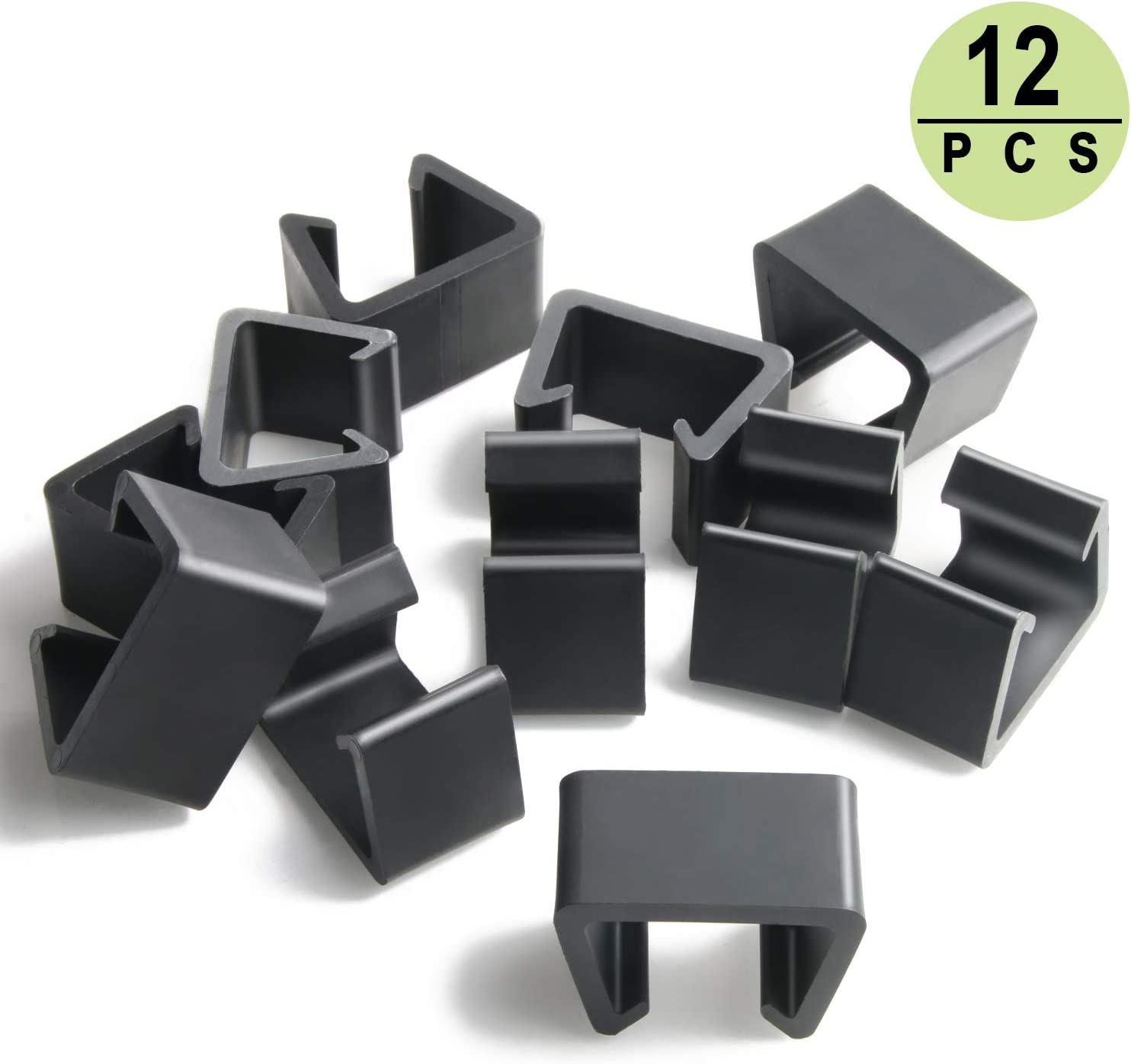 PETKNOWS 12Pcs Patio Wicker Furniture Clips Outdoor Rattan Sectional Sofa Chairs Connector Fastener Clips (Medium): Kitchen & Dining