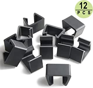 PETKNOWS 12Pcs Patio Wicker Furniture Clips Outdoor Rattan Sectional Sofa Chairs Connector Fastener Clips (Medium)