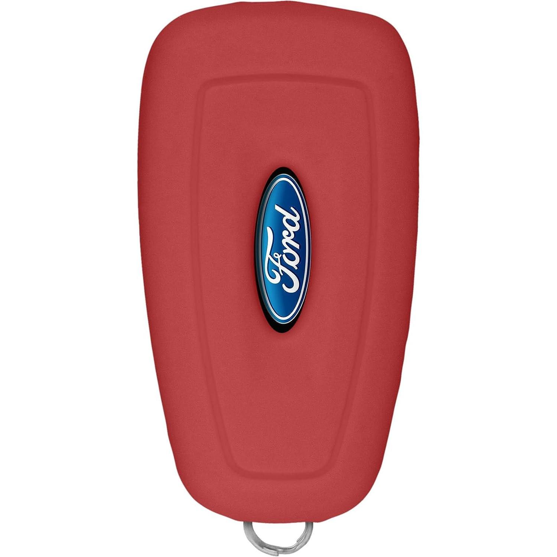 PhoneNatic Cover in Silicone Chiavi per Telecomando a 3 Tasti Ford Focus Grigio Chiave a Scatto a 3-Key 2012