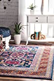nuLOOM 200RZBD48A-S505 Tribal Marisela Area Rug, 5′, Navy For Sale