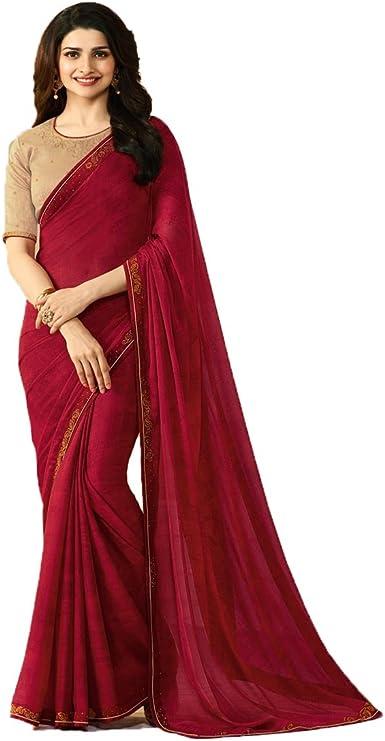 Maroon Wedding Designer Sari Bollywood Indian Pakistani Ethnic Saree