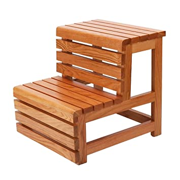 LAXF Tritt Hocker Massivholz Kinder 2 Schritt Hocker Für Badezimmer  Schlafzimmer Küche Wohnzimmer Möbel (