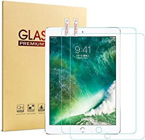 [2 Pack] iPad 9.7 2017/2018 Glass Screen Protector, HISSP High Definition Clear 9H Hardness Scratch Resistant Tempered Film iPad 5th/6th Generation, iPad Air 1, iPad Air 2, iPad Pro 9.7
