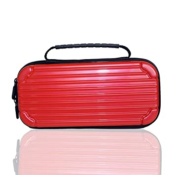 ACHICOO Storage Hard Case Console Carrying Bag Portable Travel Cover for Nintend sw/Itch red