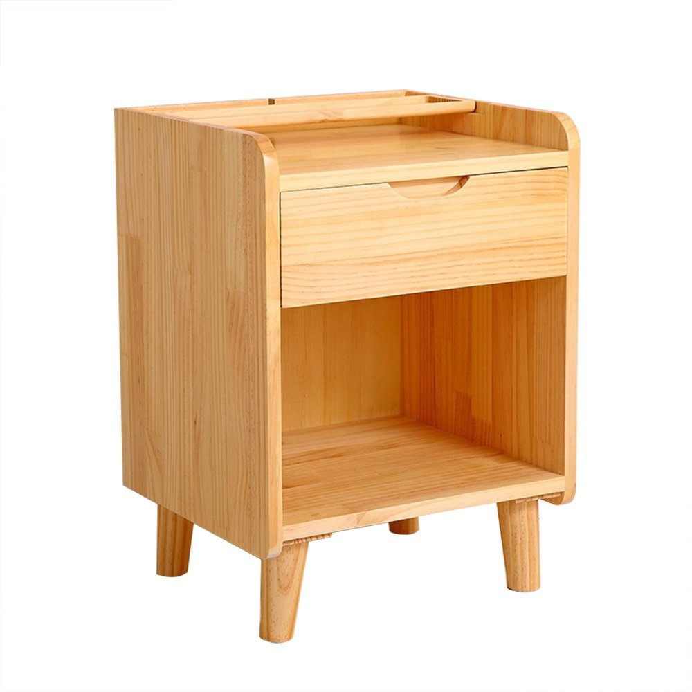 ナイトテーブル ソリッドウッドパインベッドサイドキャビネット収納ロッカーベッドルームベッドサイドキャビネット (色 : A) B07FBD2H1Q A A