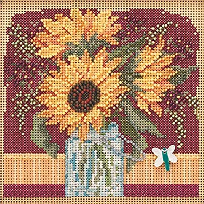 Sunflower Bouquet Beaded Counted Cross Stitch Kit Mill Hill 2019 Buttons /& Beads Autumn MH141924