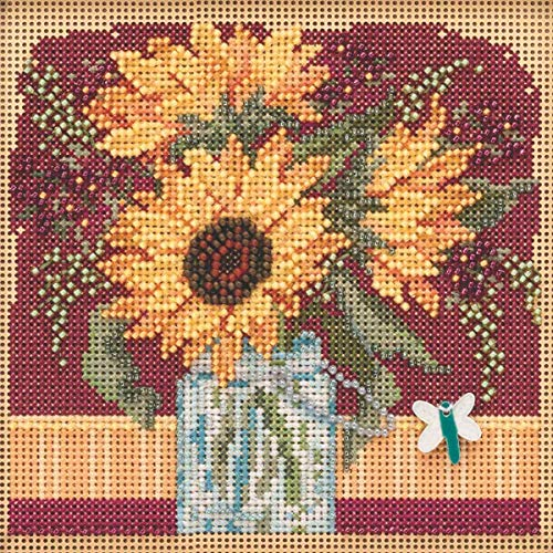 Sunflower Bouquet Beaded Counted Cross Stitch Kit Mill Hill 2019 Buttons & Beads Autumn MH141924