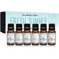 Aceite de fragancia de calidad superior de Fresh Summer, set de botellas de 0.2/0.3 onzas. Polvo para bebé, algodón…