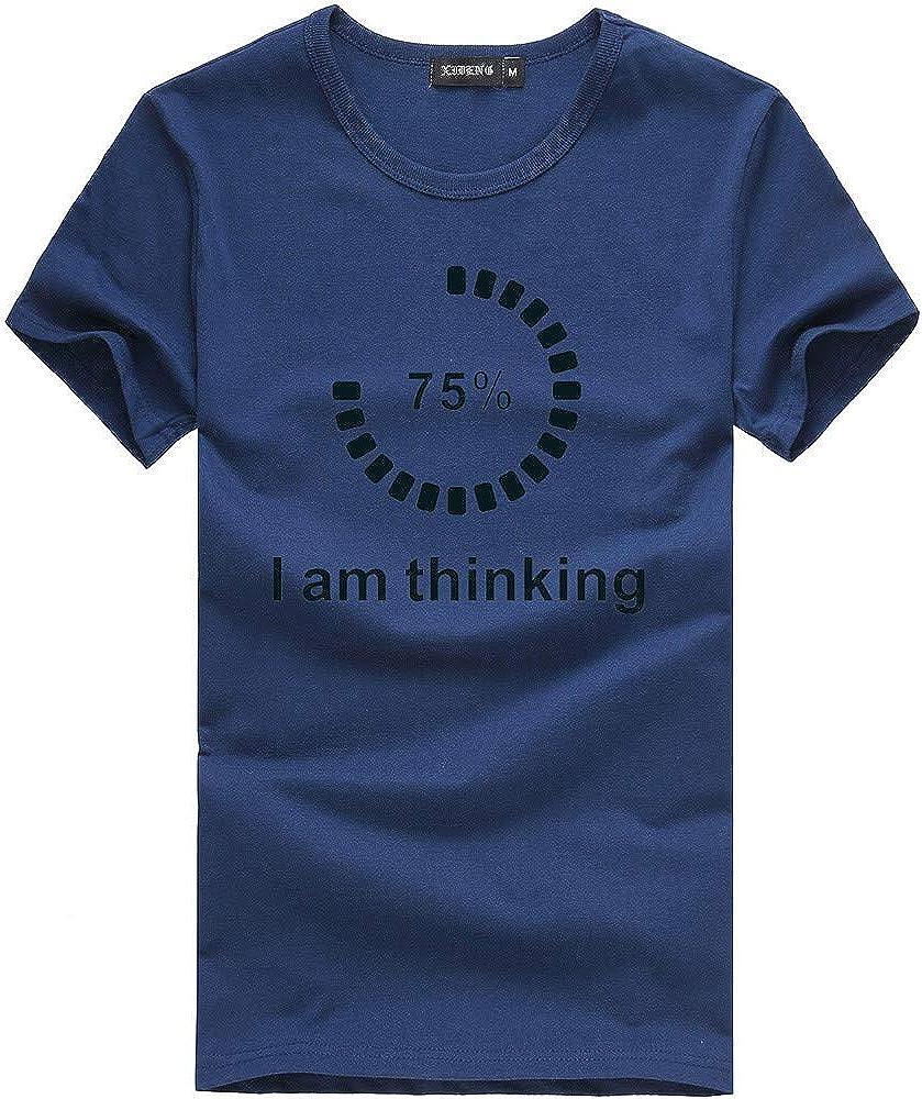 I AM Thinking Tee for Mens Unisex Printing Tees Shirt Short Sleeve T Shirt Blouse