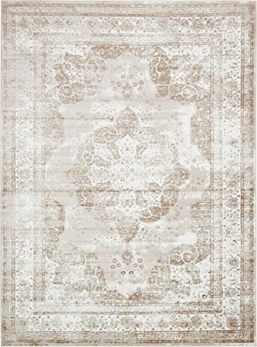 Cheap  Traditional Persian Vintage Design Rug Beige Rug 8' 11 x 12' FT..