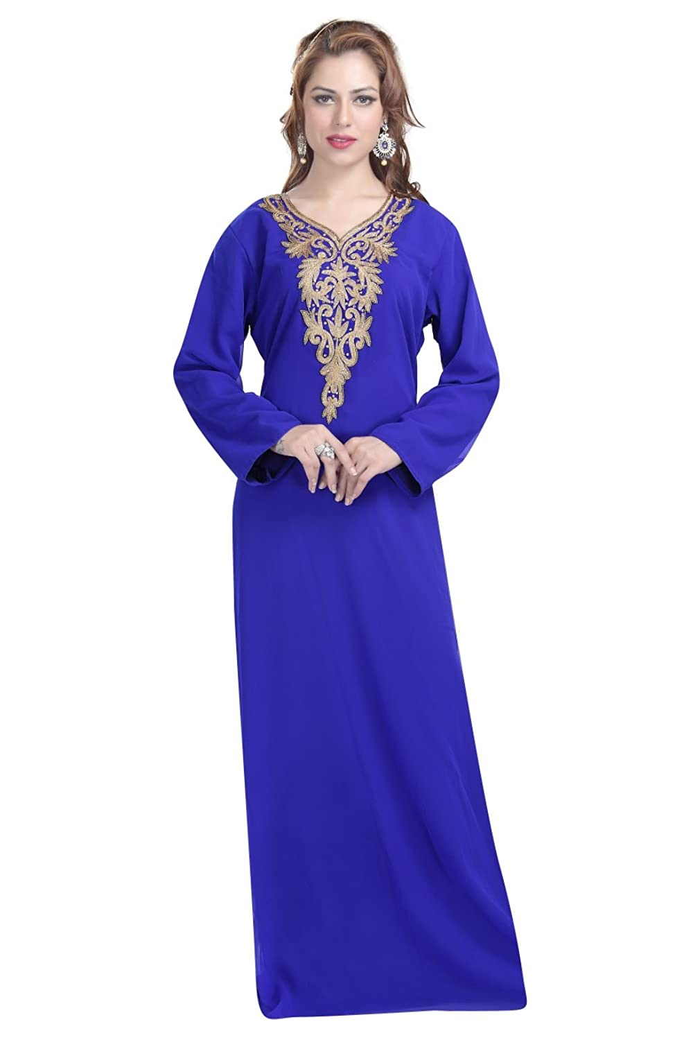 Amazon.com: Simple Elegant Evening Wear Kaftan Dress For Saudi ...