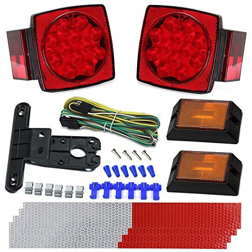 - WoneNice LED Submersible Trailer Tail Light Kit, Combined Stop, Taillights, Turn Function, DOT Compliance, 100% Waterproof