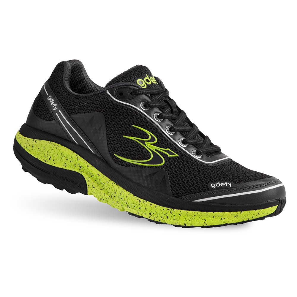 Gravity Defyer Proven Pain Relief Women's G-Defy Mighty Walk - Best Shoes for Heel Pain, Foot Pain, Plantar Fasciitis B079ZN64ZZ 10.5 M US|Black, Green