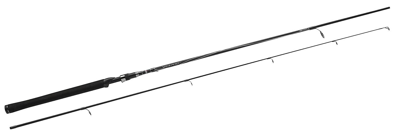 Abu Garcia vigilante Spinning caña de pescar, 2piezas, color negro