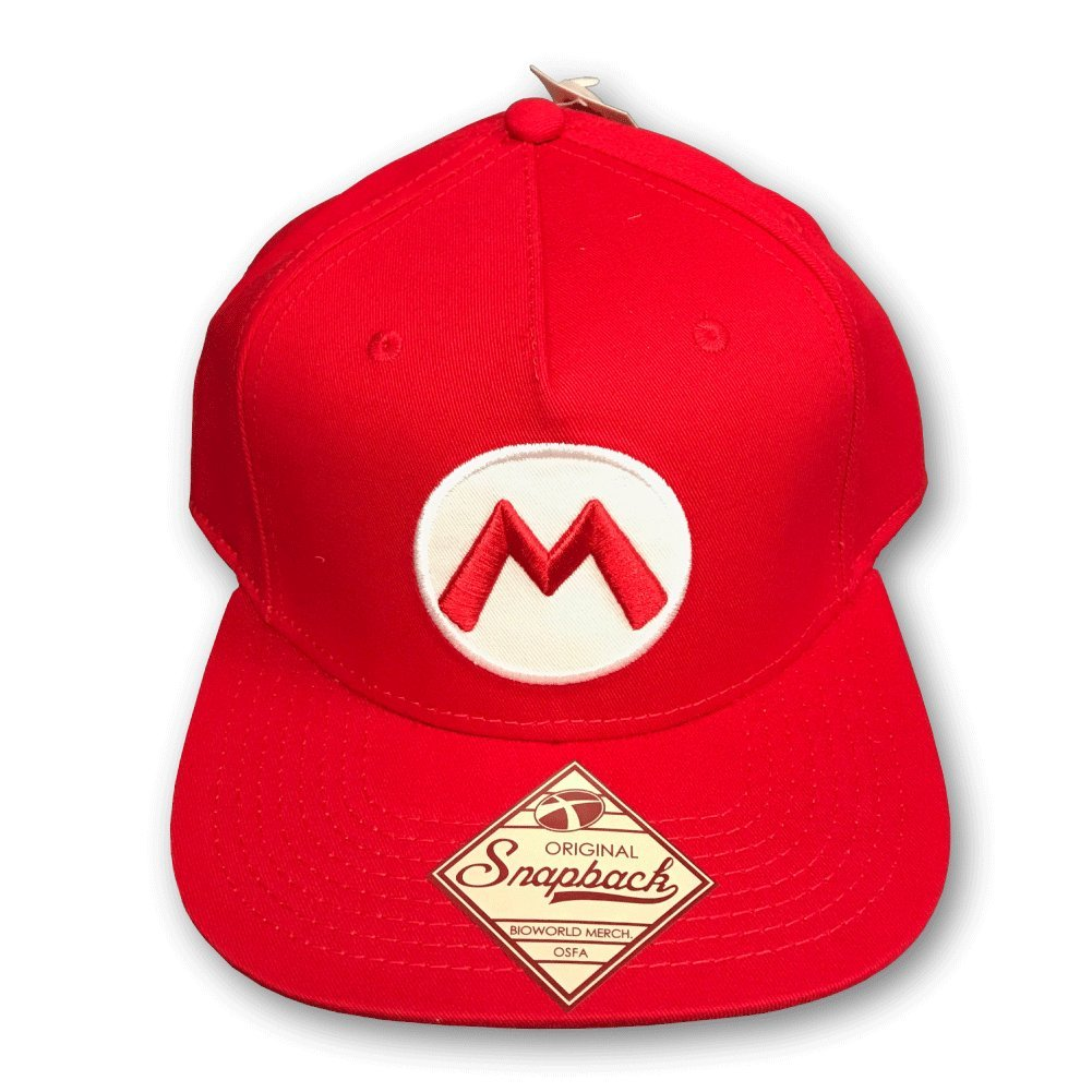 Nintendo Officially Licensed Super Mario Red Snapback Baseball Cap