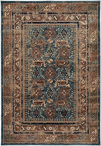 Rizzy Home BV3728 Bellevue Power-Loomed Area Rug, 3-Feet 3-Inch by 5-Feet 3-Inch, Southwest, Blue by Rizzy Home