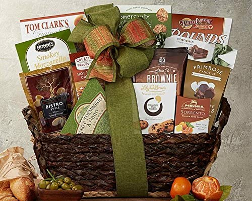 Gourmet Choice Gift Basket for Christmas and personalized card mailed seperately CD3241675
