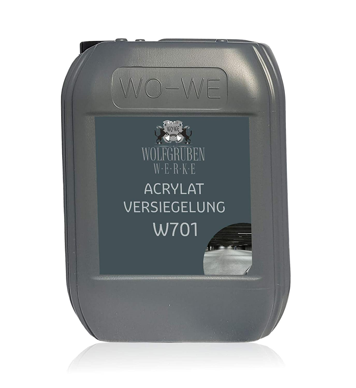 Acrylat Versiegelung Boden Beton W701 Bodenversiegelung fü r W700 Bodenfarbe 5L WO-WE