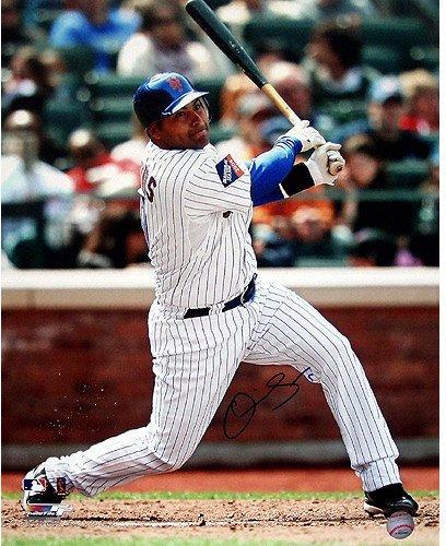 - MLB New York Mets Omir Santos Home Pinstripe Swing Vertical Color 16x20 Photo