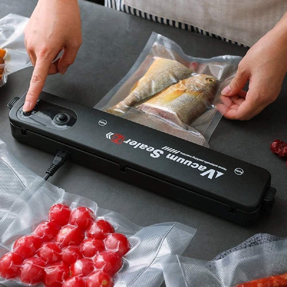 Automatic Food Vacuum Sealer Machine for Food Savers Household Black Food Vacuum Sealer