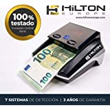 HILTON EUROPE HE-300SD Detector de Billetes Falsos actualizable con 7 sistemas de detección actualizado