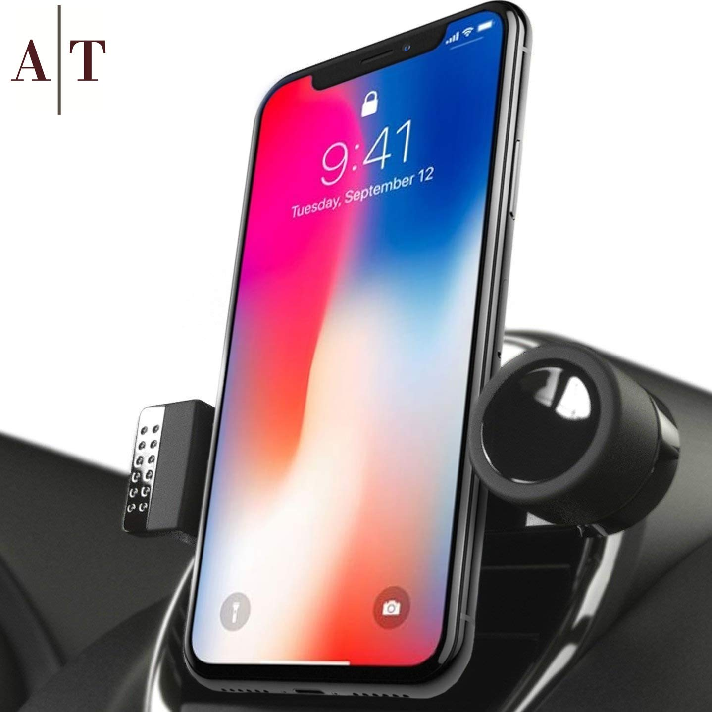 SALE - Cell Phone Holder For Car Air Vents | 360° Rotation Car Phone Mount,  Fits All Smartphones - iPhone X, XR, XS Max, 8, 7, 6, 5, | 6/7/8 Plus |