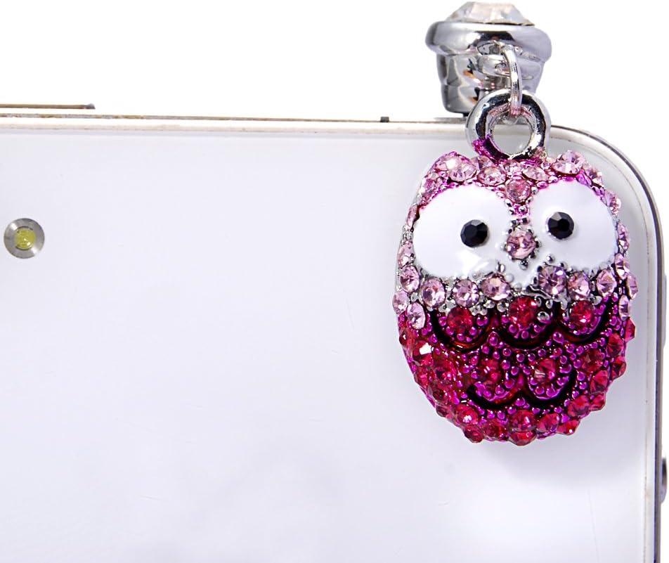 Bling Owl Maviss Diary Dustproof Plug Earphone Jack Accessories//Cell Charms//Dust Plug//Ear Jack for iPhone 5 5S 6 6S//iPad//ipod Touch//Samsung Galaxy//Other 3.5mm Ear Jack 3D Cute Animal