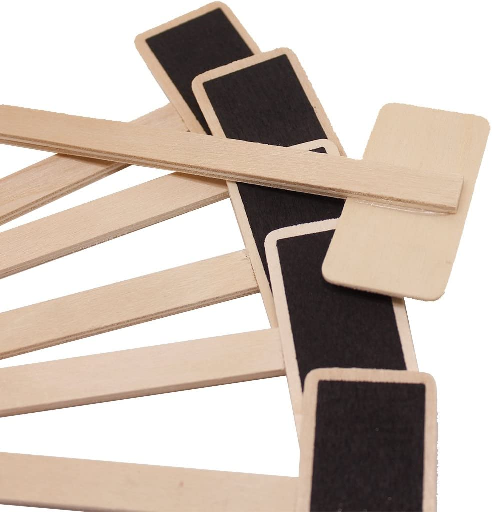 Healifty 2 unidades, curvadas, impermeables Etiquetas de pizarra de madera para jard/ín
