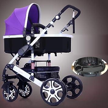 HKANG® Carrito De Cochecito 3 en 1 Carrito De La Compra Cochecito Carrito De Bebé Carrito De Carritos - Passeggino,Purple: Amazon.es: Deportes y aire libre