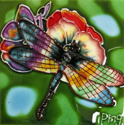 continental-art-center-sd-052-4-by-4-inch-dragonfly-ceramic-art-tile