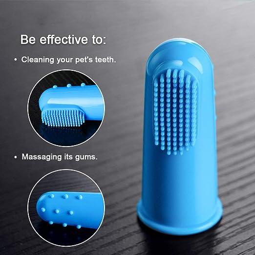 Xelparuc Juego de 12 cepillos dentales de Silicona Suave para Mascotas, para Perros y Gatos, de la Marca: Amazon.es: Productos para mascotas