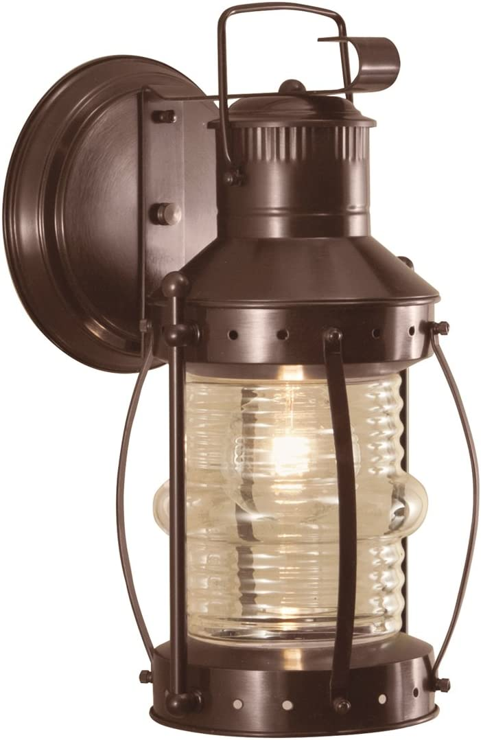 Norwell Lighting 1105-BR-CL Seafarer – One Light Outdoor Wall Mount, Bronze Finish with Clear Glass