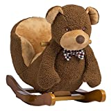 Rockin' Rider Barry The Bear Baby Rocker Plush Ride-On, Brown