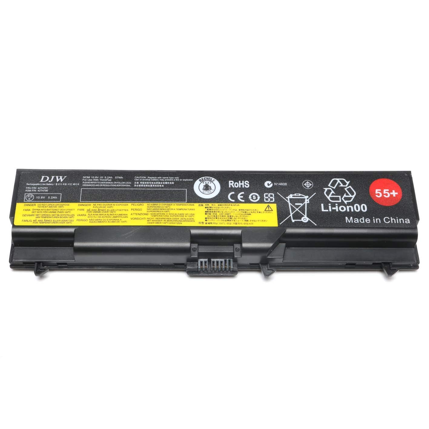 Amazon DJW 10 8V 57WH 55 Laptop Battery for Lenovo ThinkPad and IBM ThinkPad Notebook Series puters & Accessories