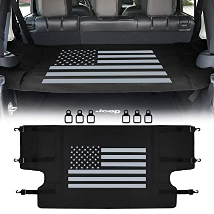 Amazon Com Sunluway Rear Cargo Rack Cover Shield Us Flag For Jeep
