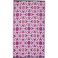 Fab Habitat Indoor/Outdoor Weather Resistant Floor Mat/Rug Seville - Multicolor, 3 x 5