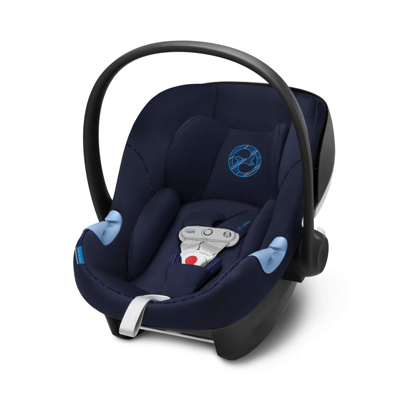 Cybex Gold Seggiolino Aton M i-Size Include SensorSafe Indigo Blue per Bambini da 45 cm a 87 cm Massimo 13 kg
