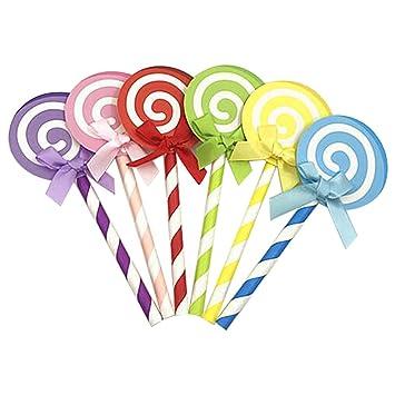 joyliveCY Lollipop Compatible Conma Pastel Cupcake Topper decoración para niños fiesta de cumpleaños: Amazon.es: Hogar