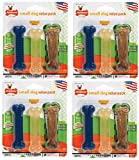 (4 Pack) Nylabone FlexiChew Regular Bone Dog Chew Toy, 3 Bones each